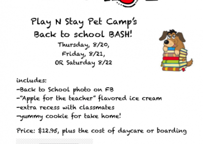 Dogs Daycare Back to School