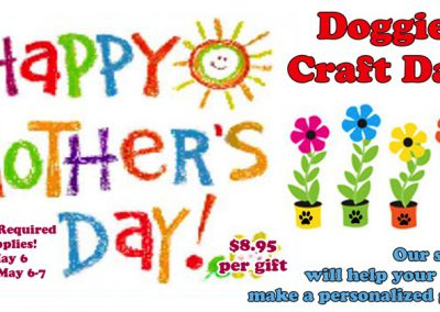 2016 Mother's Day CRAFT event Dog Puppy
